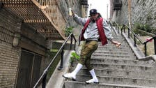 Movie fans flock to 'Joker' steps in New York