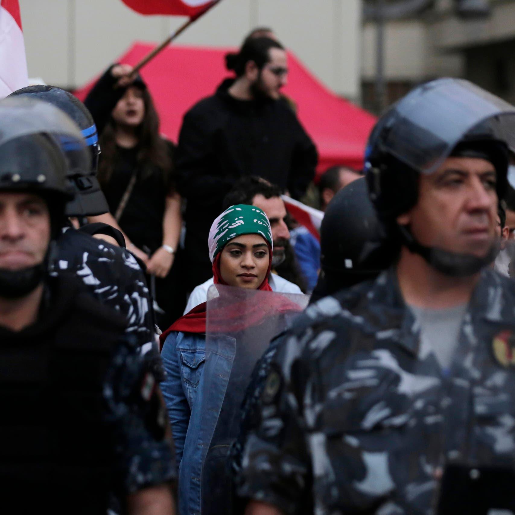 بيروت.. الأمن يحمي المتظاهرين وموالو حزب الله ينسحبون
