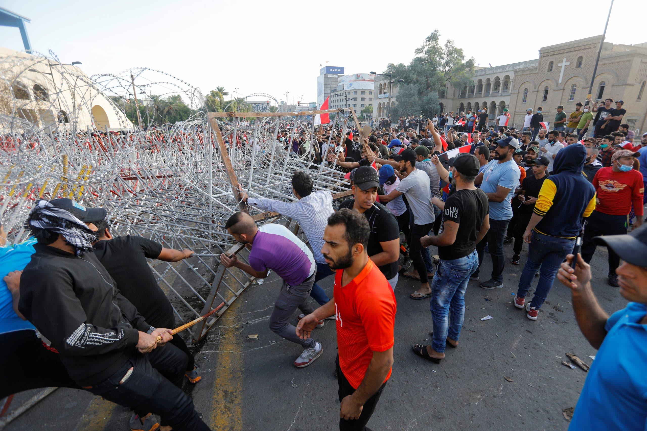 من احتجاجات العراق، الجمعة