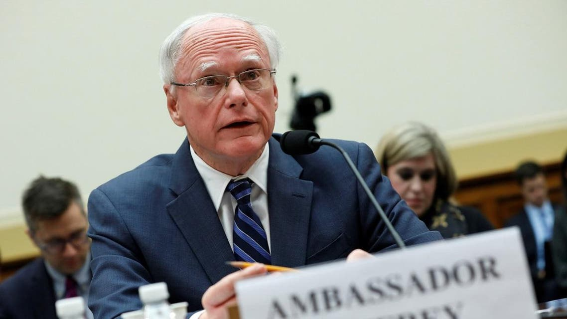 James Jeffrey, U.S. State Department special representative for Syria Engagement, testifies before a House Foreign Affairs Committee. (Reuters)