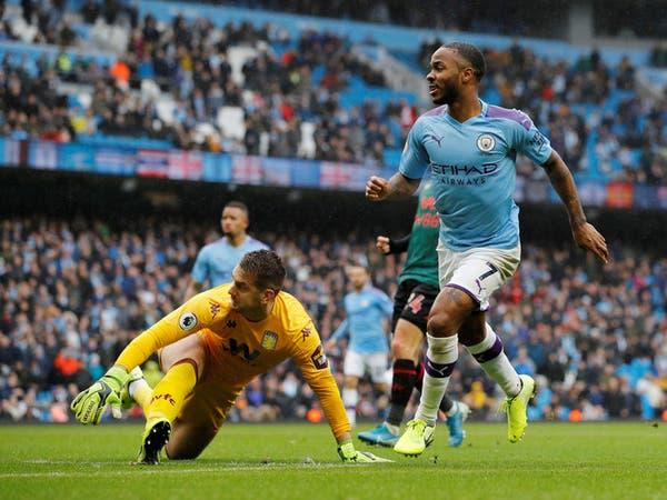 مانشستر سيتي يهزم أستون فيلا ويقلص الفارق مع ليفربول