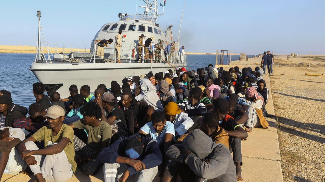 Migrants who were rescued off the coast of Libya earlier this month - 2019 - AP