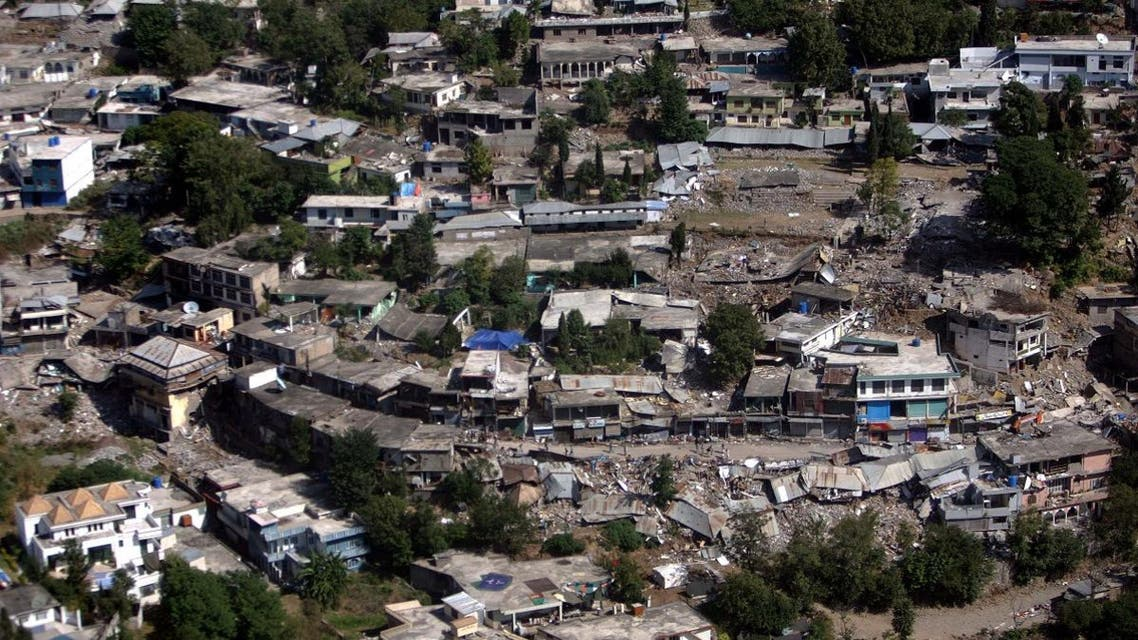 An aerial view showing part of Bagh, in Pakistani Kashmir. (AP)