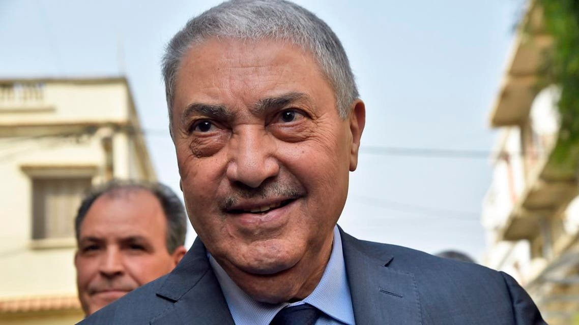 Former Algerian prime minister Ali Benflis, who heads the Avant Garde of Freedom party, arrives at a meeting of opposition figures in Algiers on February 20, 2019. (File photo: AFP)