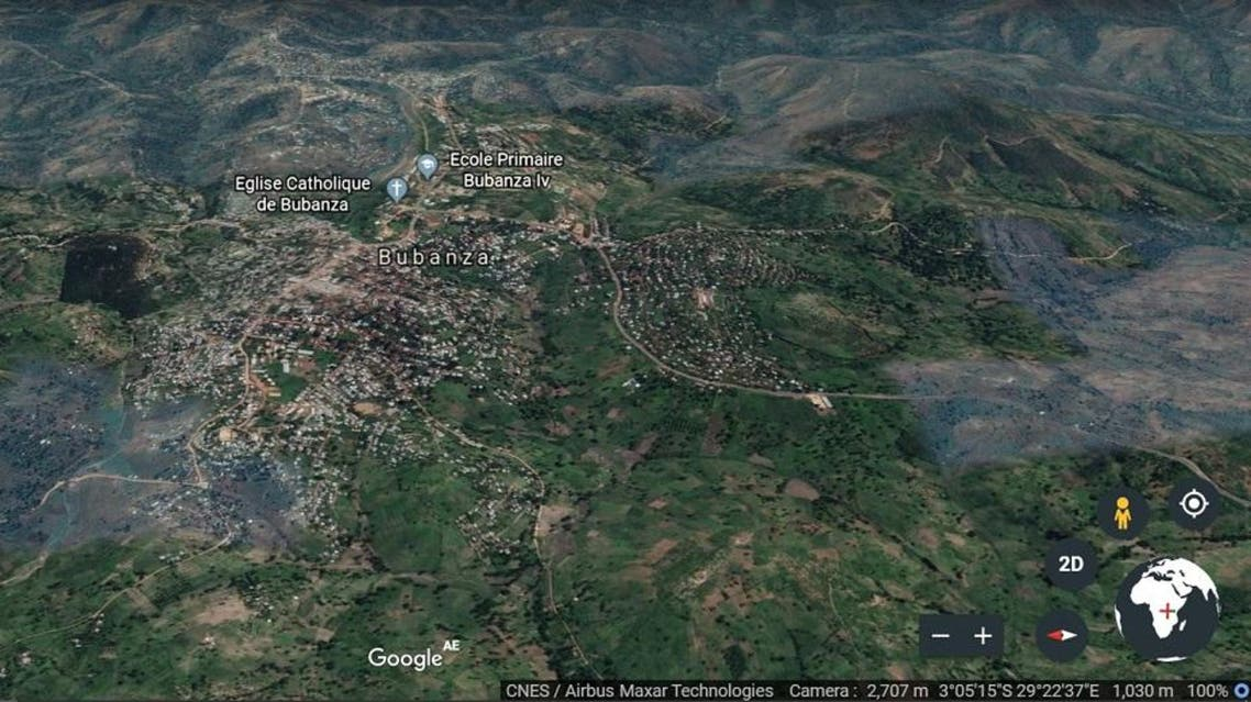 Burundi's northwestern province of Bubanza. (Google Earth)
