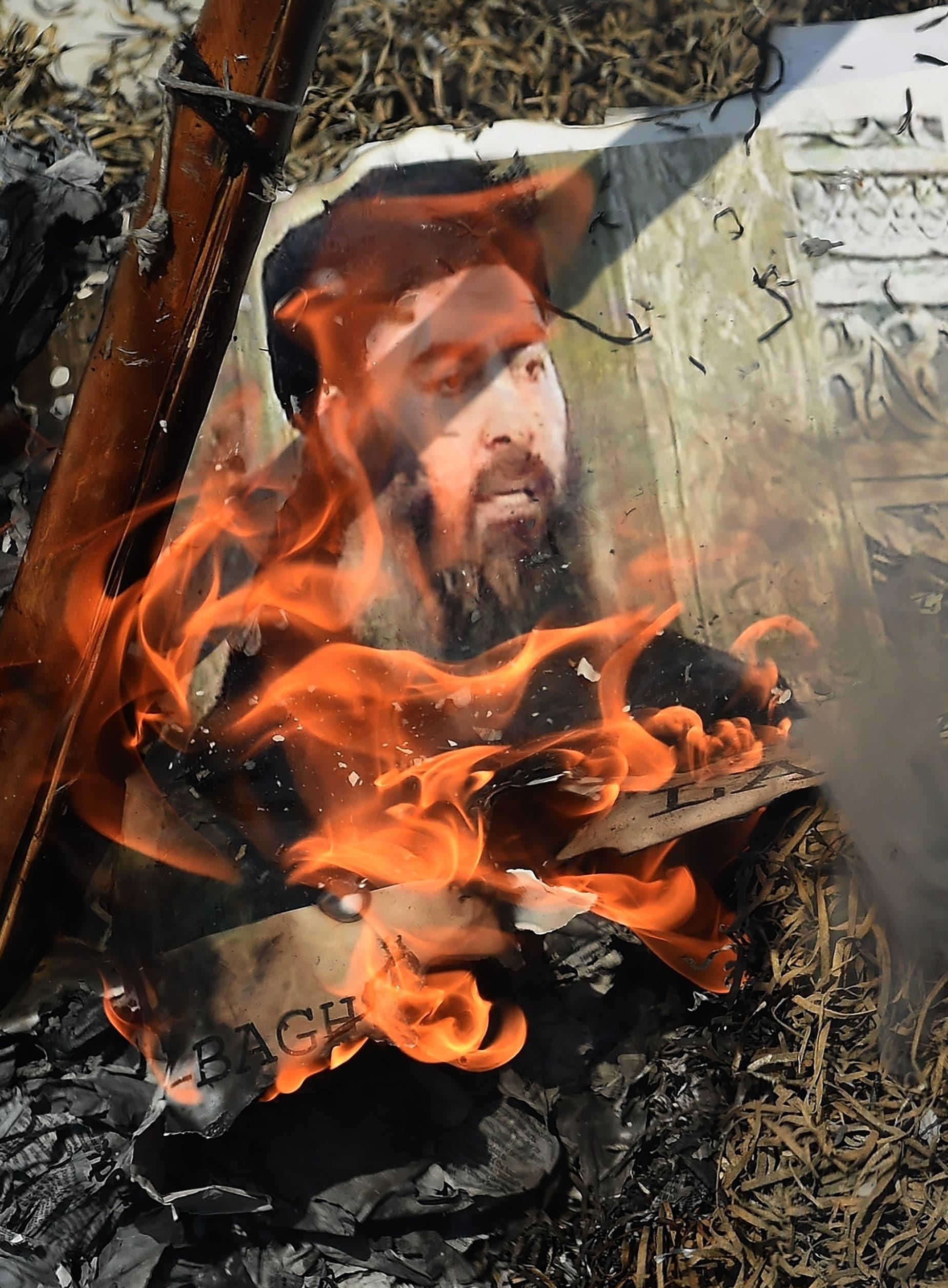 صورة لزعيم داعش أبو بكر البغدادي(فرانس برس)