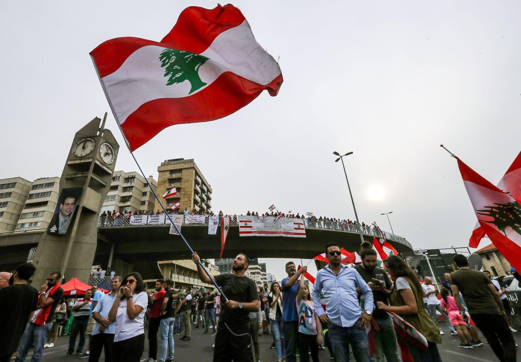 تظاهرات لبنان (فرانس برس)