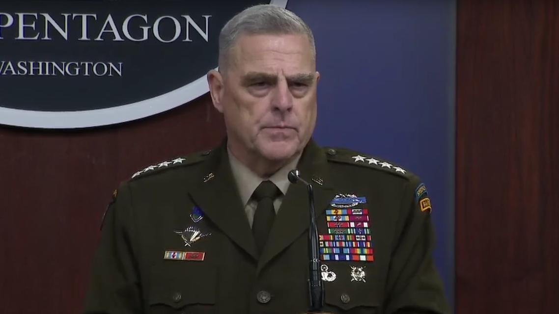 Mark Milley at Pentagon (Screengrab)