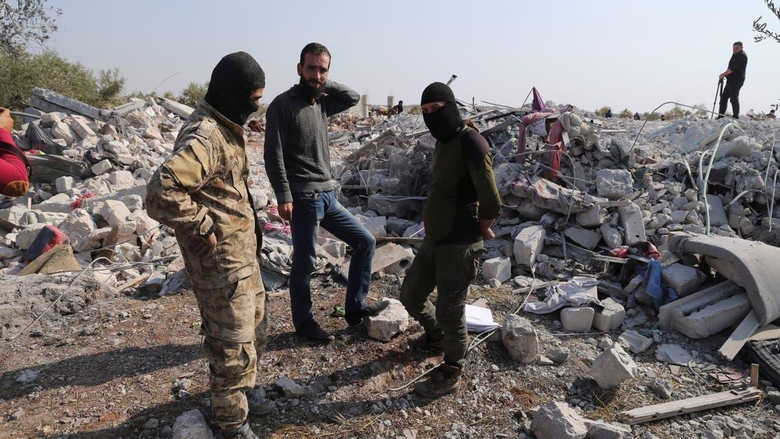مكان استهداف البغدادي (اسوشيتد برس)