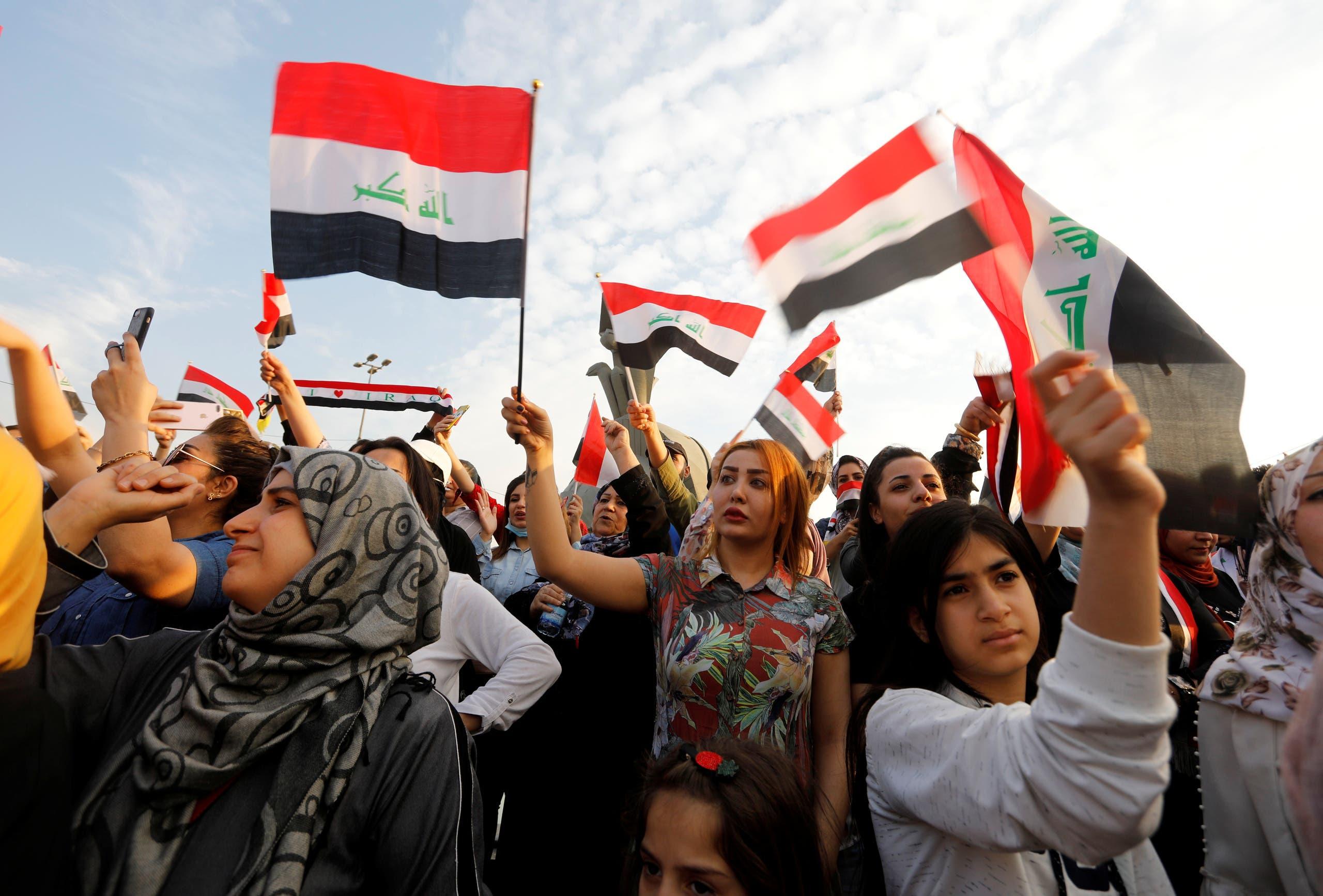 من تظاهرات العراق (27 أكتوبر فرانس برس)