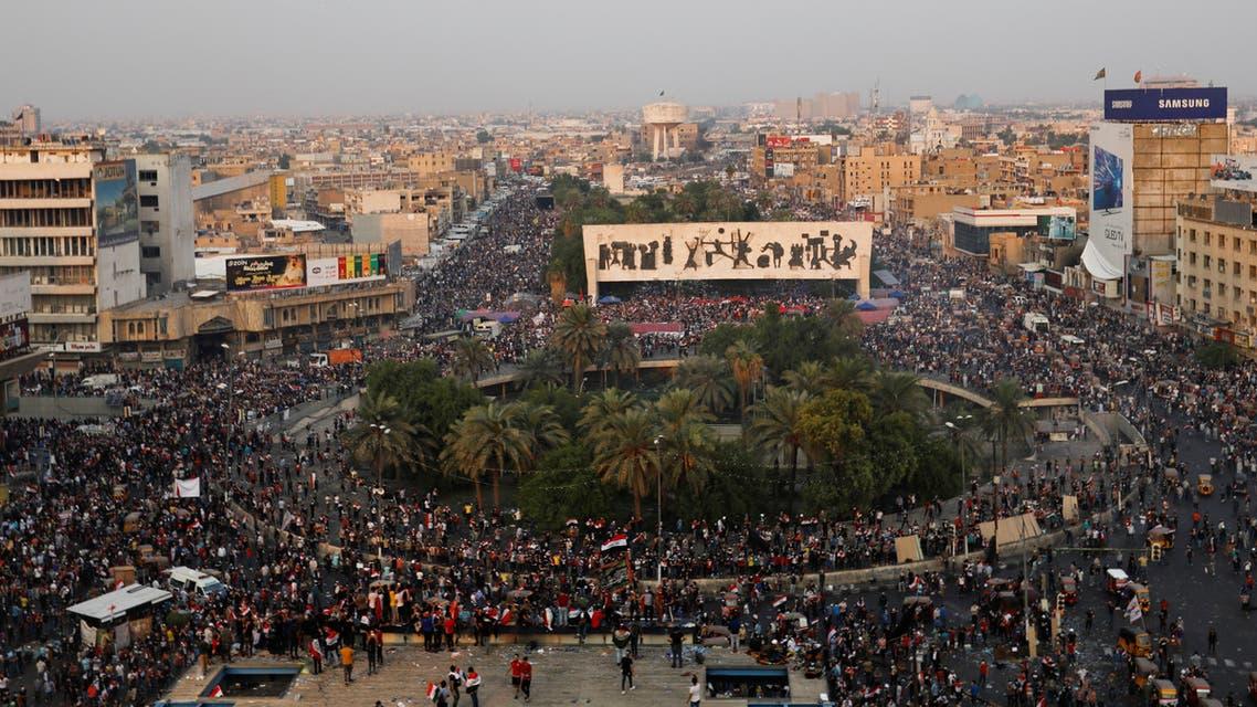 ساحة التحرير بغداد احتجاجات