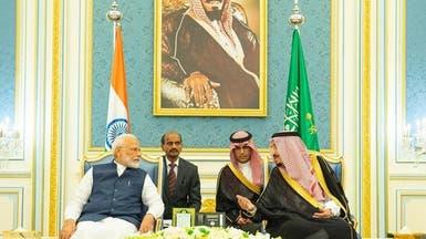 الملك سلمان يستقبل رئيس وزراء الهند والوفد المرافق له