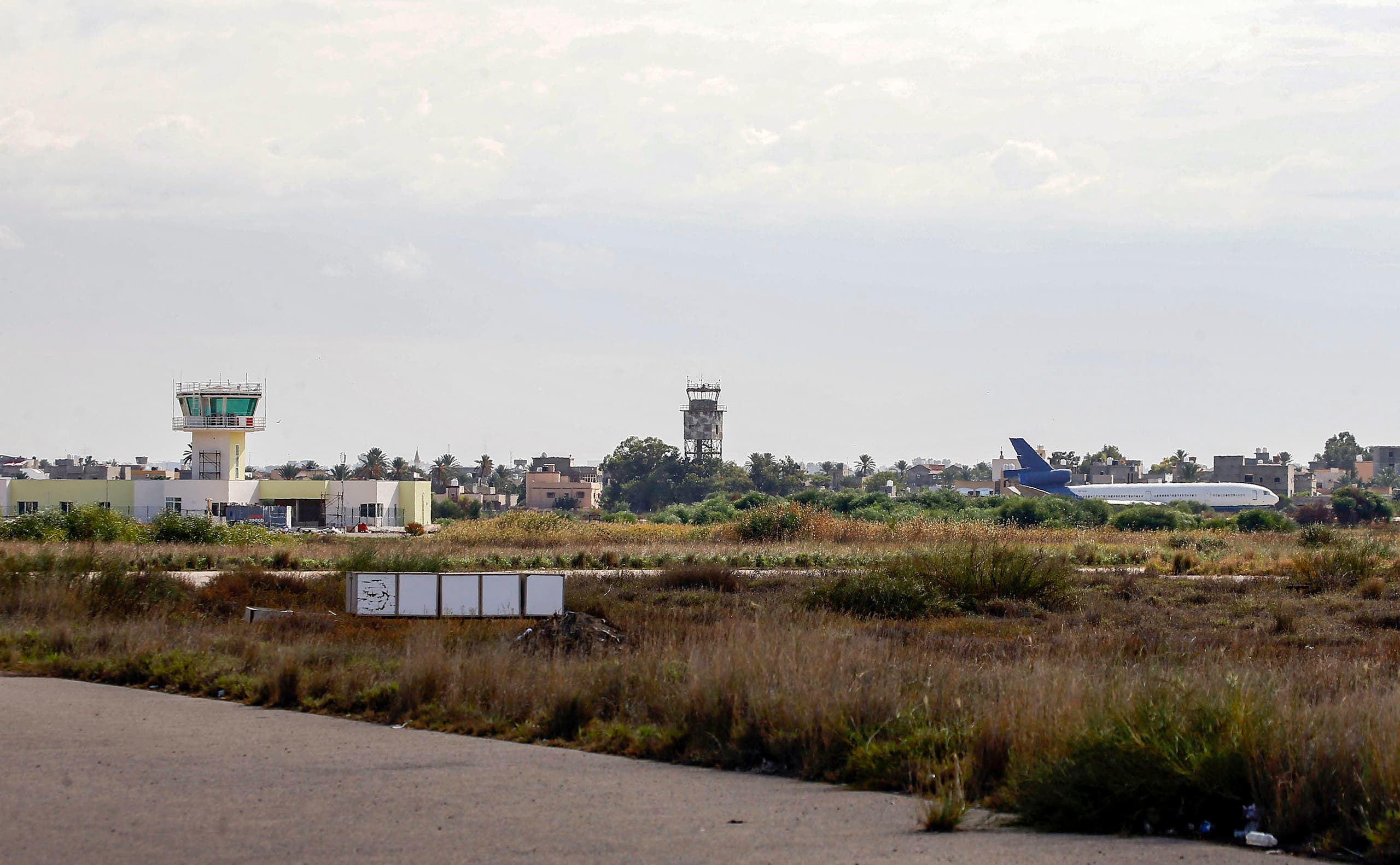 Mitiga Airport in Tripoli, Libya. (File photo: AFP)