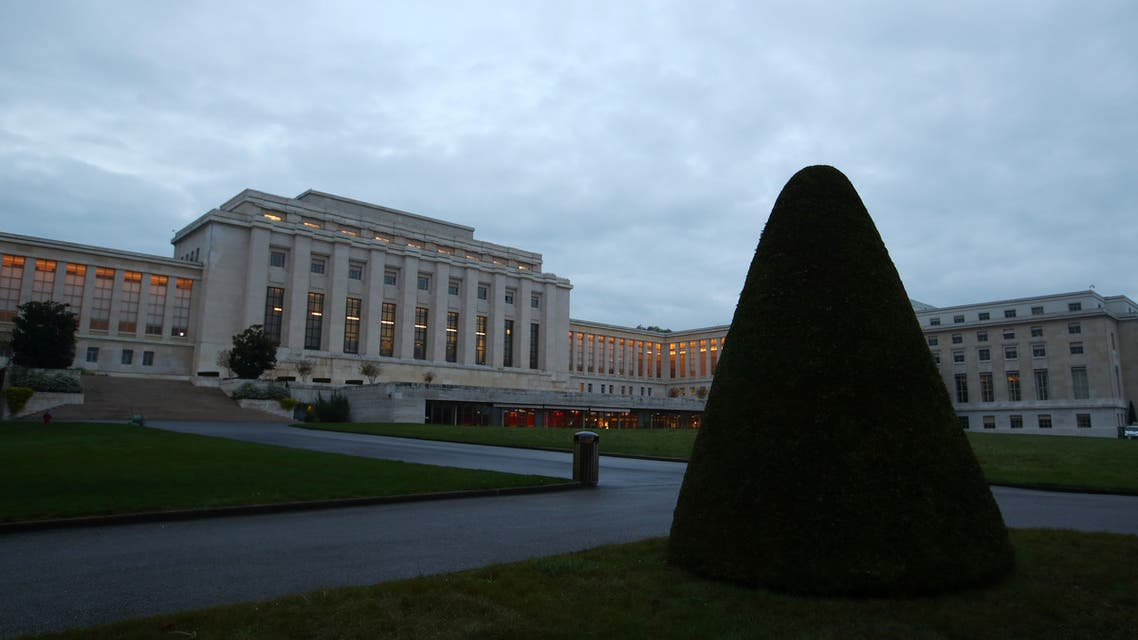 The United Nations building is pictured ahead of the meeting of the Astana group and the new Syrian Constitutional Committee in Geneva, Switzerland October 29 2019