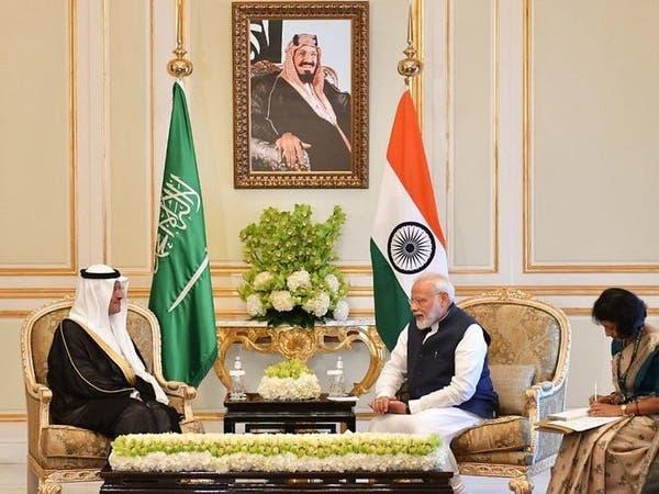 رئيس الوزراء الهندي يستقبل وزير الطاقة السعودي