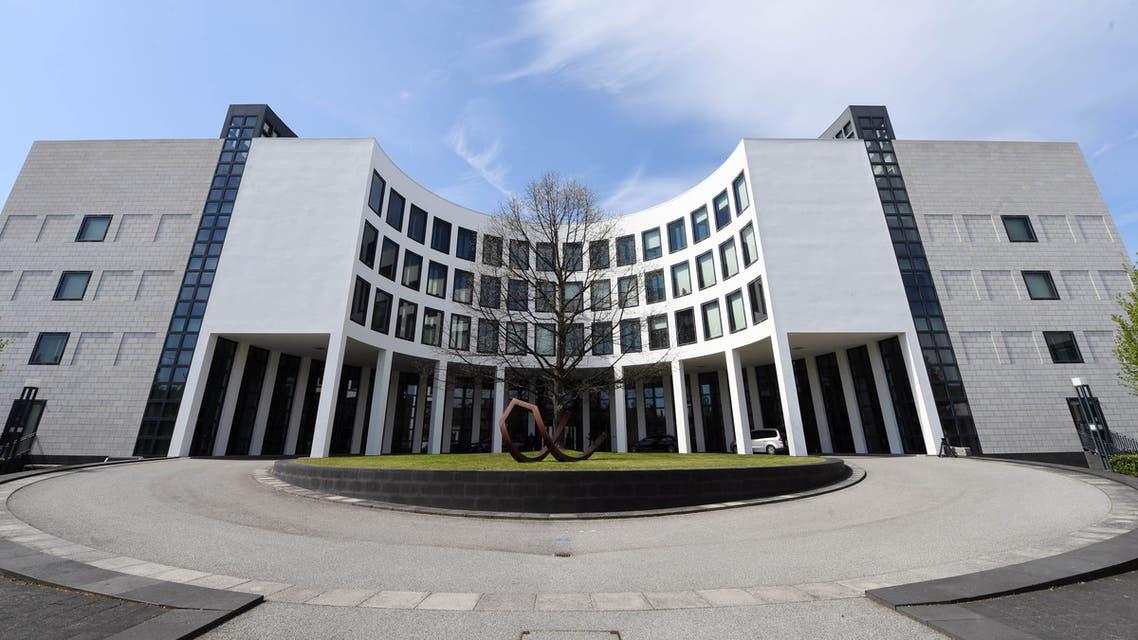 This file photo taken on April 12 2017 shows The Federal Public Prosecutor's Office (Bundesanwaltschaft) in Karlsruhe southwestern Germany