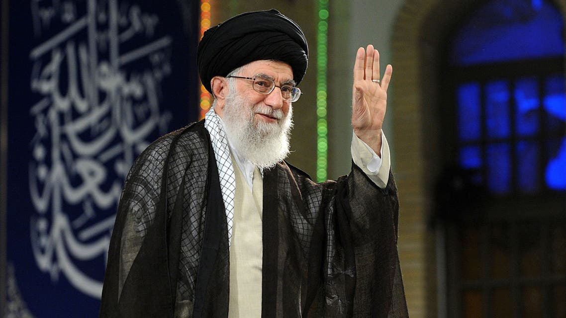 A handout picture provided by the office of Iran Supreme Leader in 2018 shows Ayatollah Ali Khamenei. (File photo: AFP)