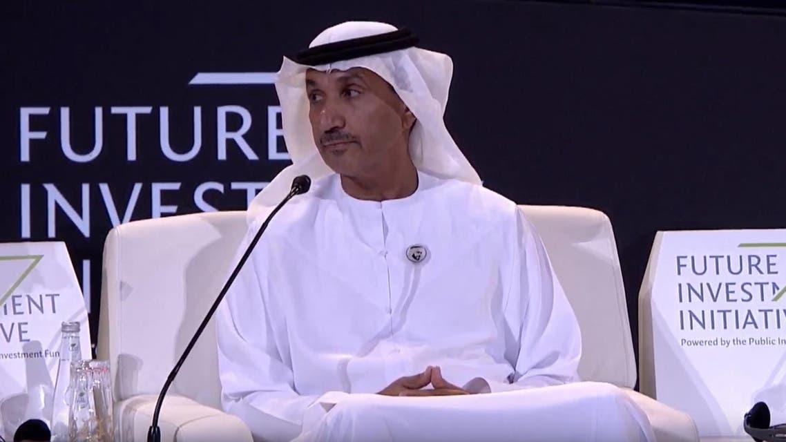 Mohammed Al Ahbabi, the director-general of the UAE's United Arab Space Agency speaks at the FII in Riyadh.