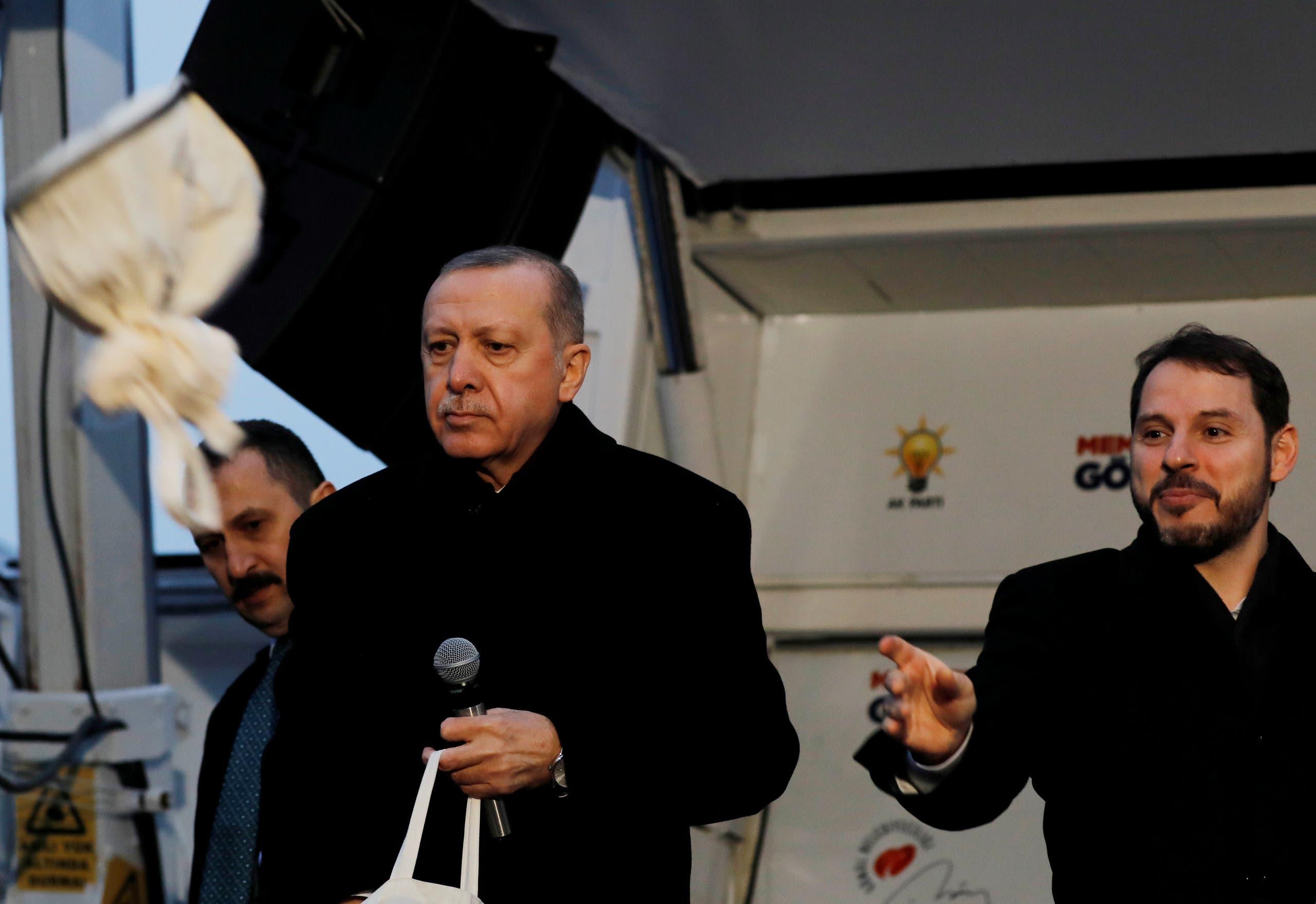 بيرات البيرق ورجب طيب أردوغان