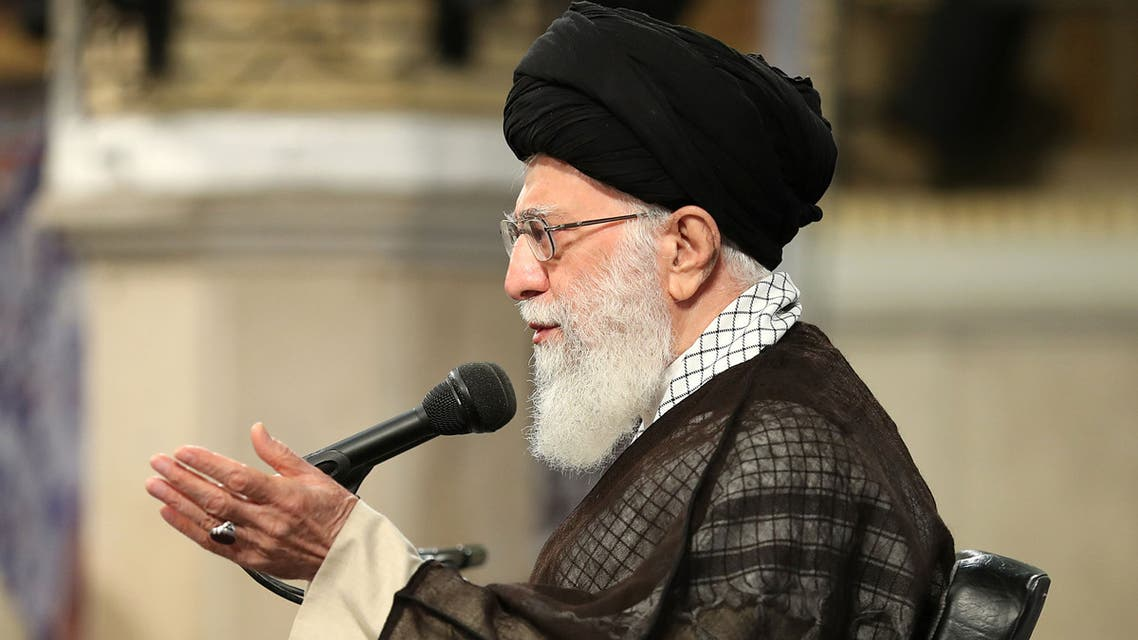 A handout picture provided by the office of Iran Supreme Leader on April 30 2018 shows Ayatollah Ali Khamenei AFP