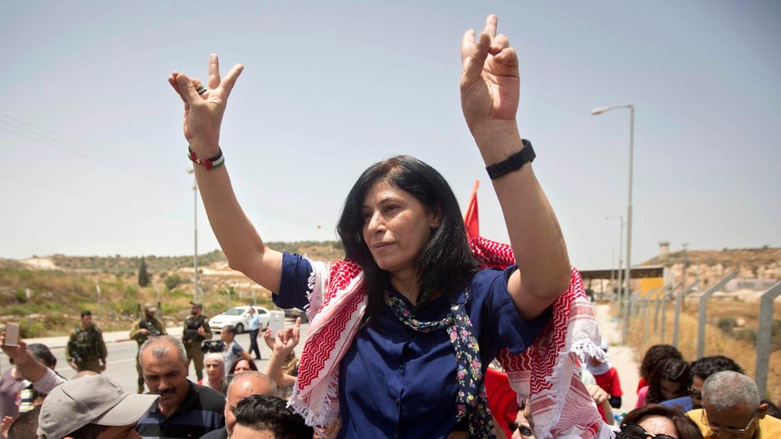 Khalida Jarrar Palestnian activist - AP