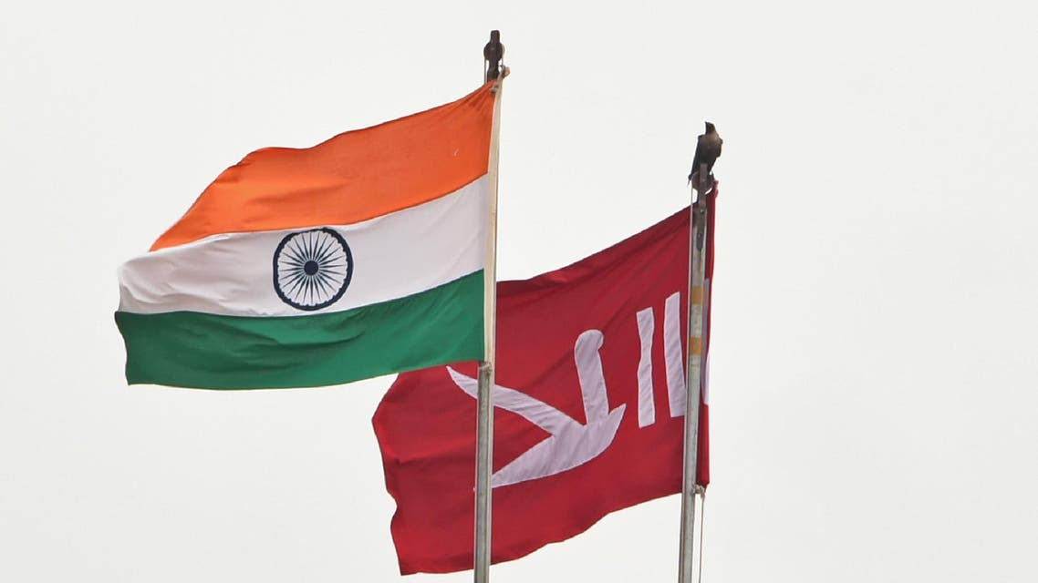 Jammu Kashmir flag India flag - AFP
