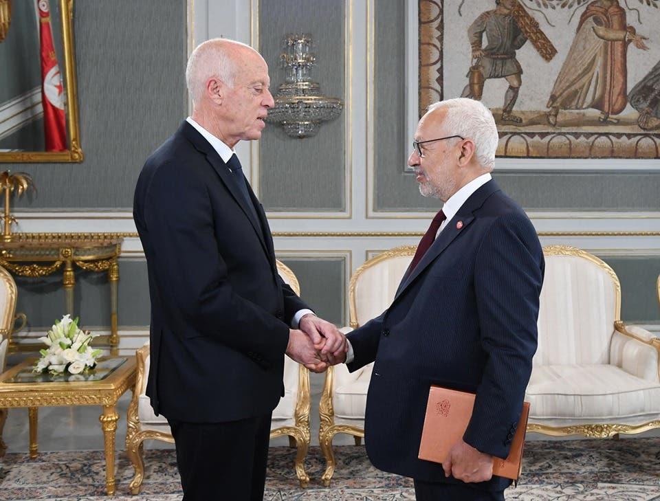 کایس سعید و راشد ال گنوچی