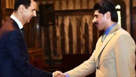 محمد القطرنجي مع بشار الأسد