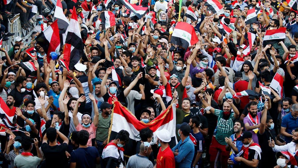 من تظاهرات بغداد الأربعاء