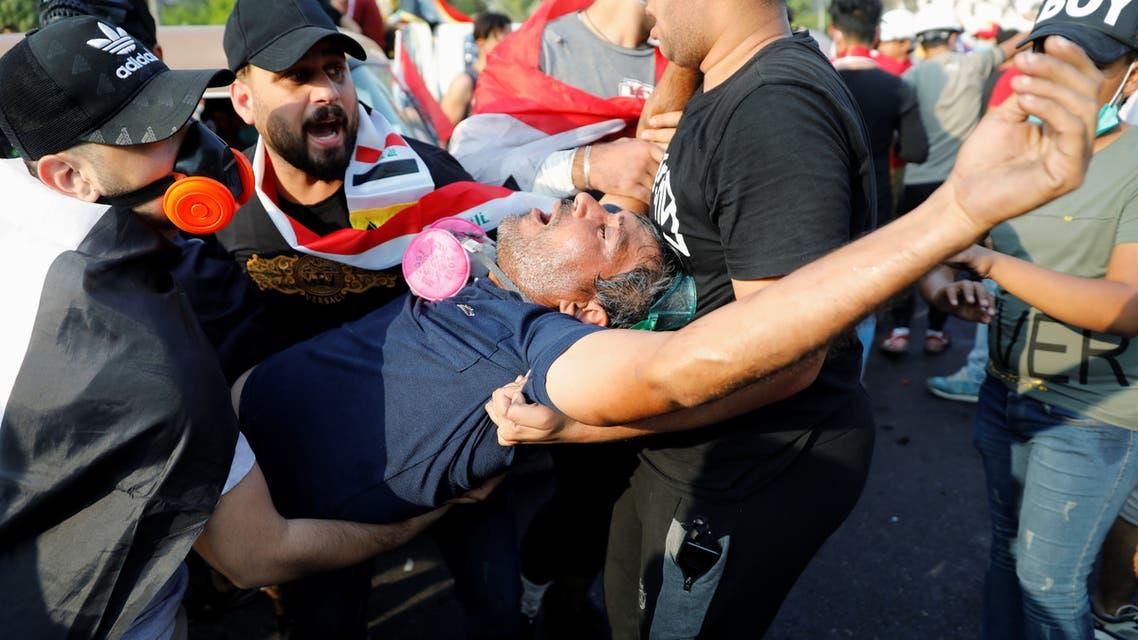 من تظاهرات العراق (رويترز)