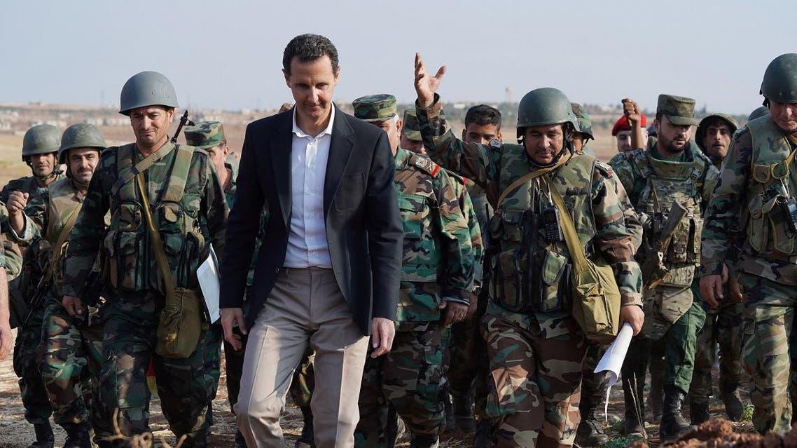 Syrian President Bashar al Assad visits Syrian army troops in war-torn northwestern Idlib province. (File Photo: Reuters)