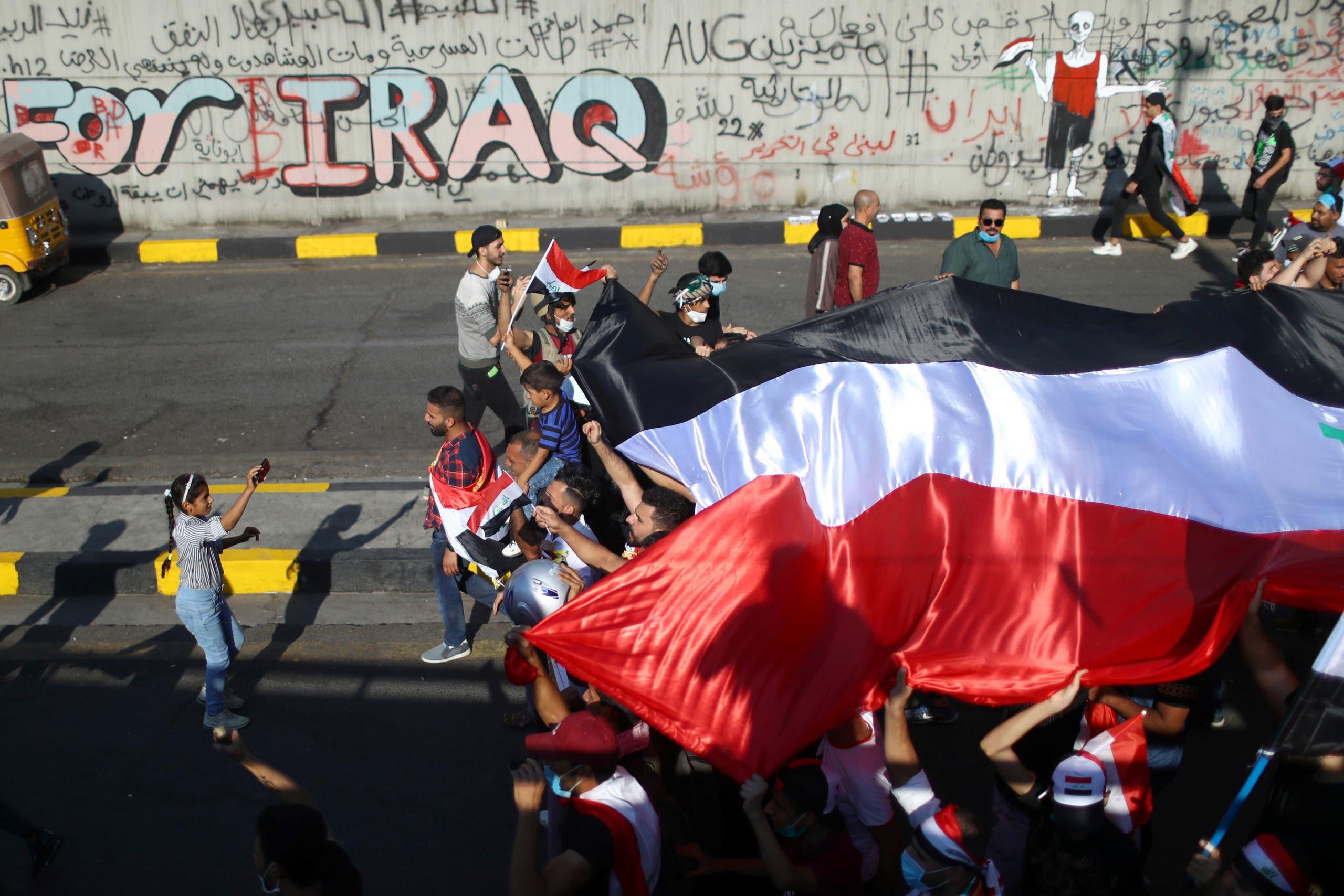 من احتجاجات العراق 1 نوفمبر - رويترز