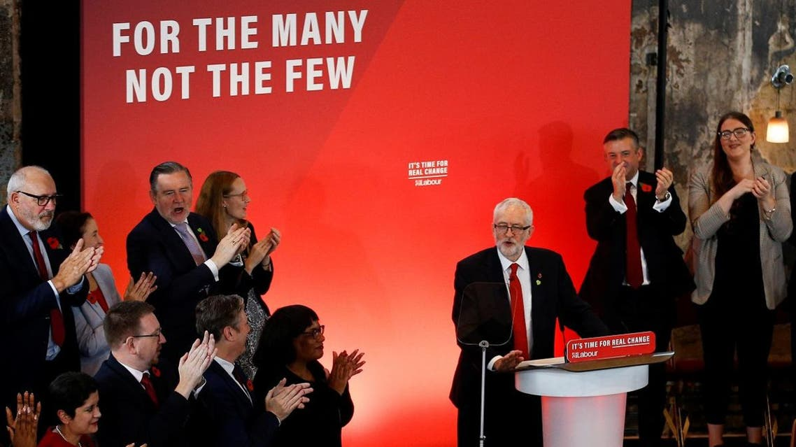 Britain's opposition Labour Party launch event for the general election campaign in London. (Reuters)