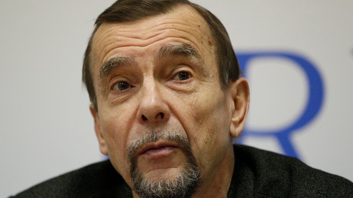 Russian human rights activist Lev Ponomaryov speaks at a news conference in Moscow, Russia, on Thursday, Oct. 27, 2011. The news conference was held to announce a rally on Oct. 30 to campaign for greater political freedoms. (AP Photo
