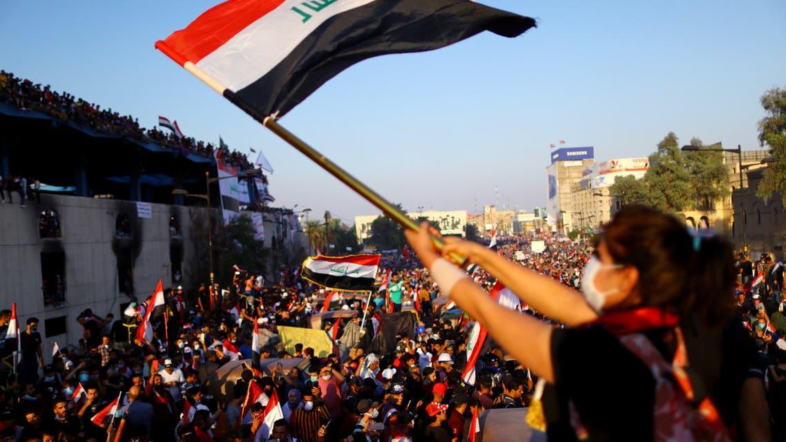 من الاحتجاجات في بغداد الجمعة