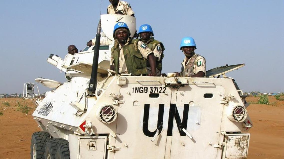 Peacekeeping soldiers of the hybrid United Nations - African Union Mission in Darfur (UNAMID) go on a patrol in the Nyala area of South Darfur. (AFP)