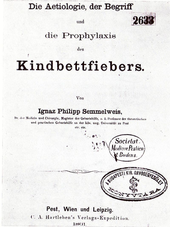 صورة لأحد الكتب الطبية التي ألفها أغناس سيميلويس