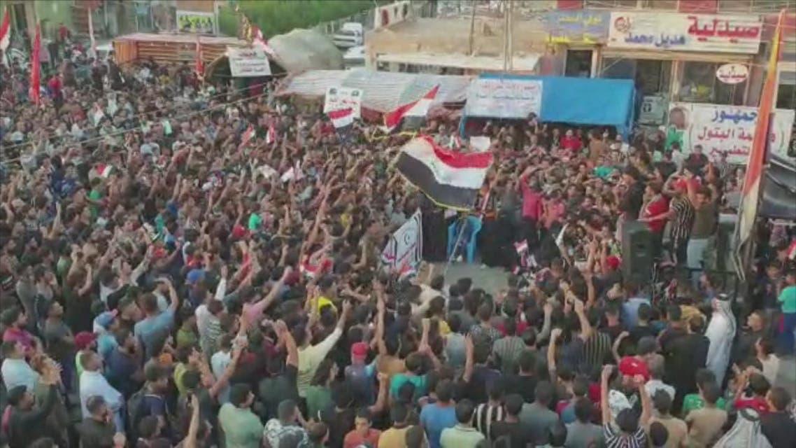 THUMBNAIL_ حناجر المتظاهرين  إيران برة برة.. ذي قار حرة حرة