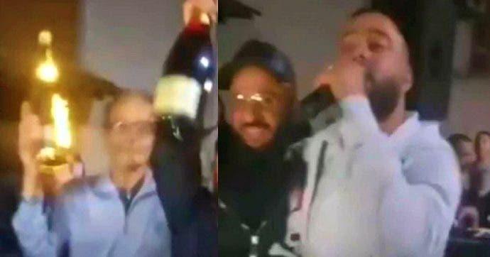 المغني يحتفل بإطلاق سراح زعيمي المافيا