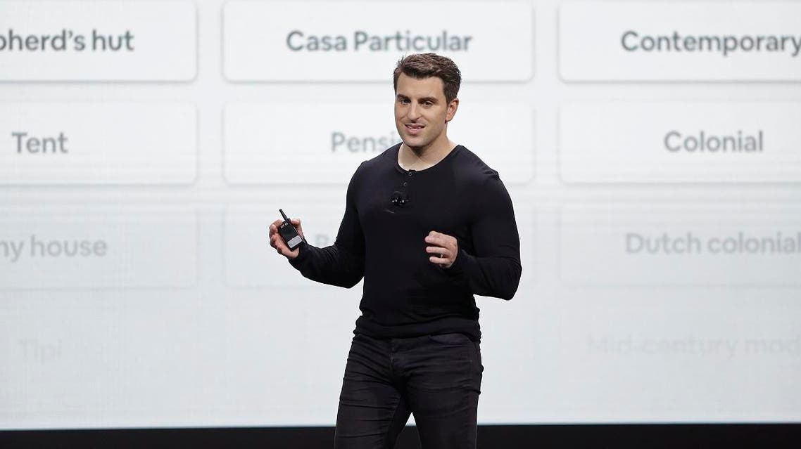 Airbnb co-founder and CEO Brian Chesky speaks during an event Thursday, Feb. 22, 2018, in San Francisco. (AP)