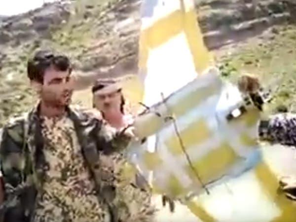 بالفيديو.. إسقاط طائرة حوثية في الضالع