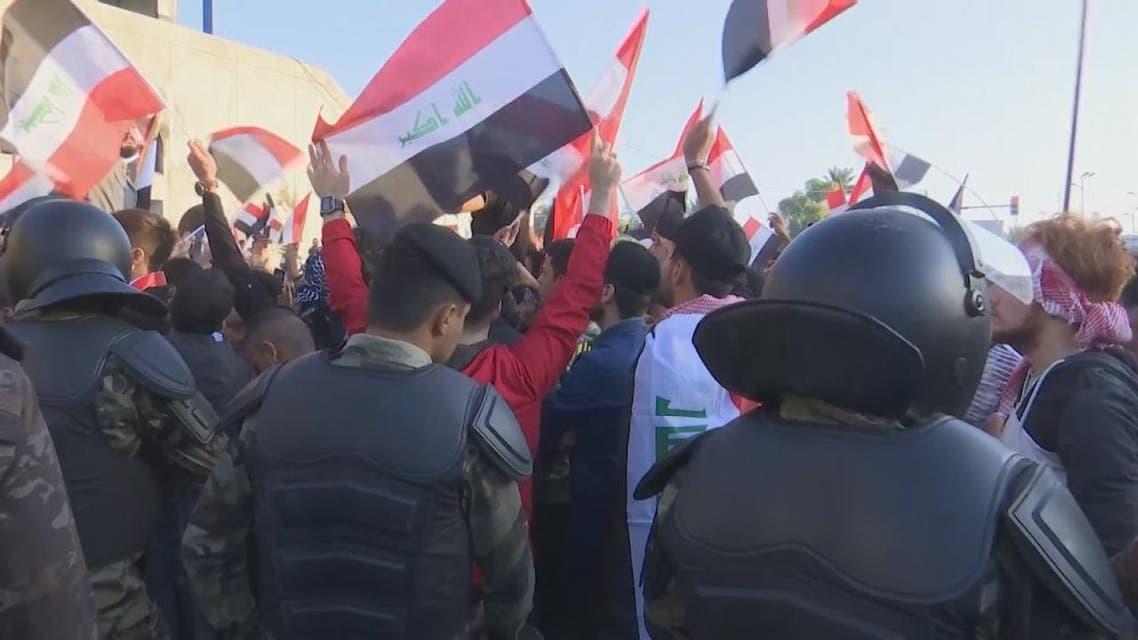 THUMBNAIL_ العراقيون يواصلون احتجاجاتهم ضد الفساد والنخب الحاكمة في البلاد