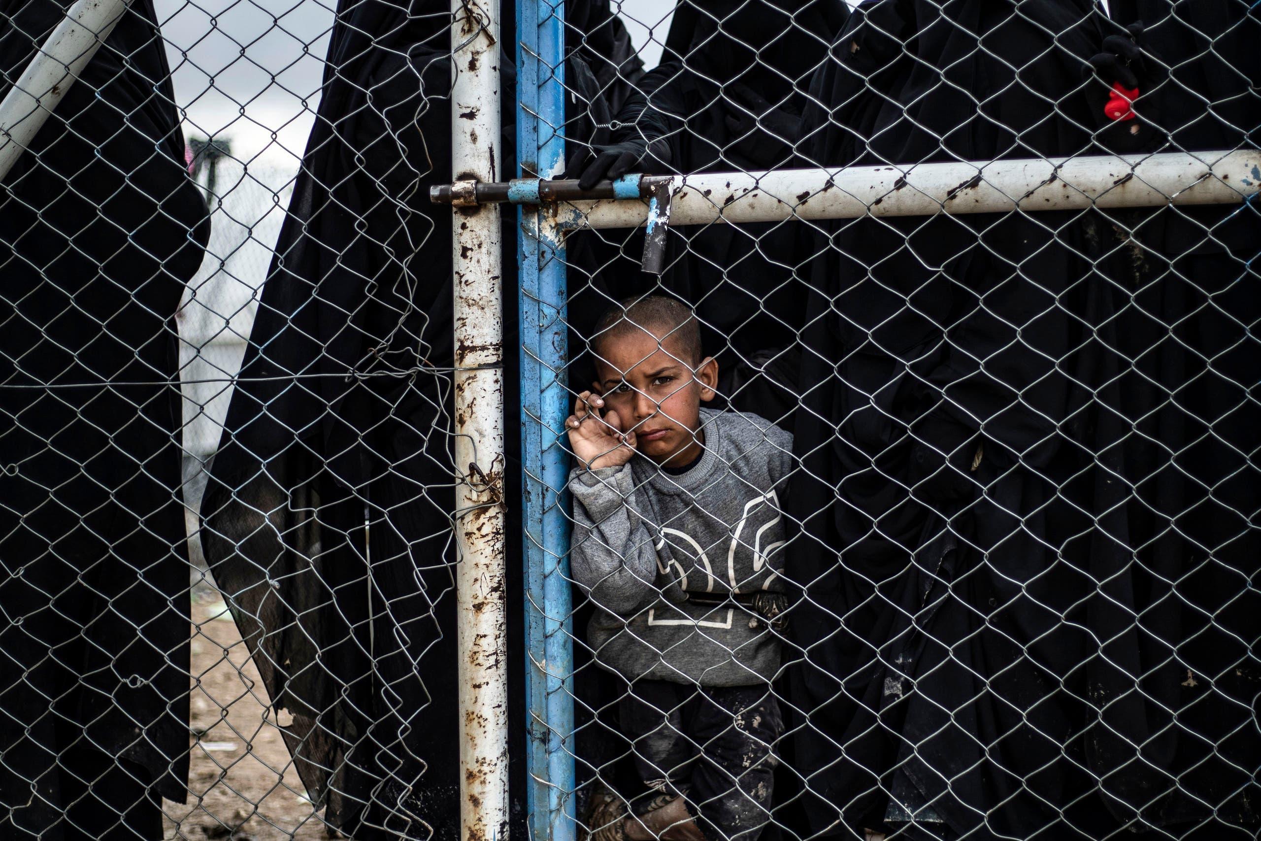 طفل في مخيم الهول