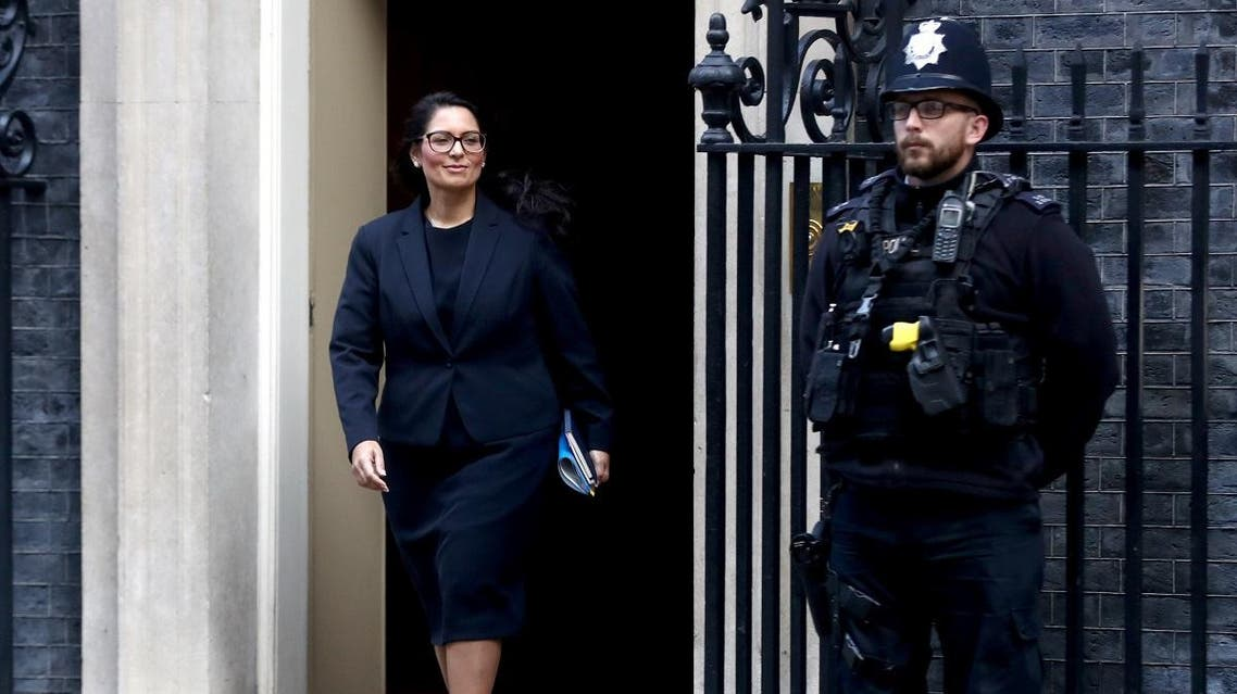 Britain's Home Secretary Priti Patel leaves Downing Street in London, Britain October 22, 2019. REUTERS