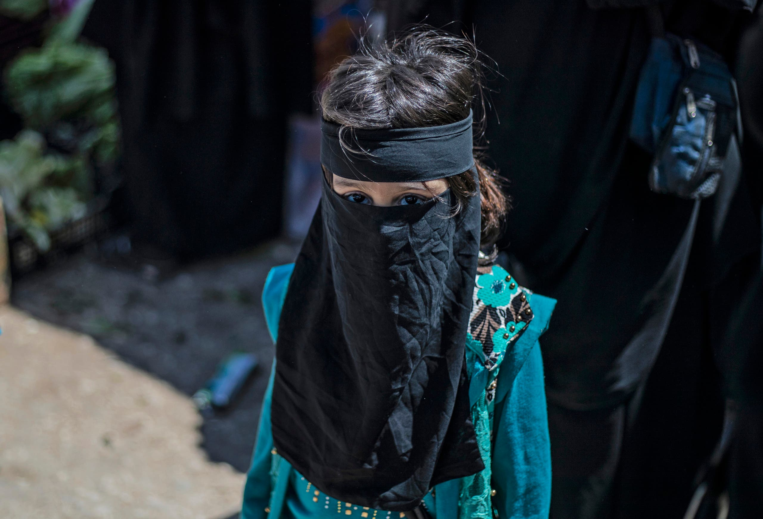 طفلة في مخيم الهول