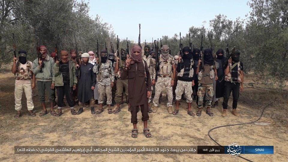 عناصر من داعش في مصر