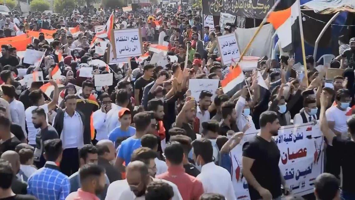 THUMBNAIL_ إضرابات في بغداد وجنوب العراق للمطالبة بإسقاط النظام