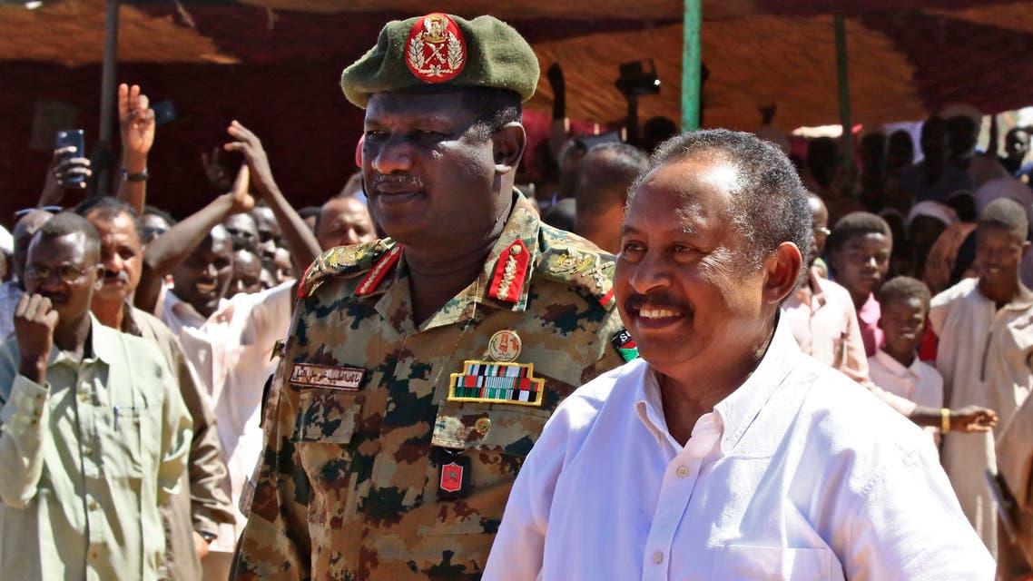 Sudan prime minister Abdalla Hamdok in  Darfur in November 2019. (AFP)