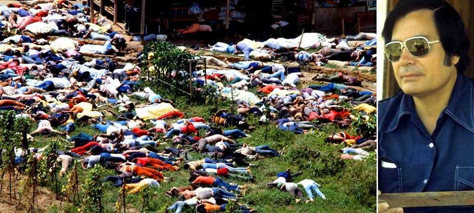 القسيس جونز، وجثث المنتحرين غطت أرض المستعمرة التي بناها وسط الأدغال