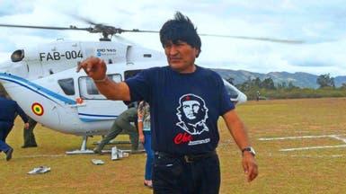 شاهد الهليكوبتر تتعطل بالجو وتكاد تقتل الرئيس البوليفي